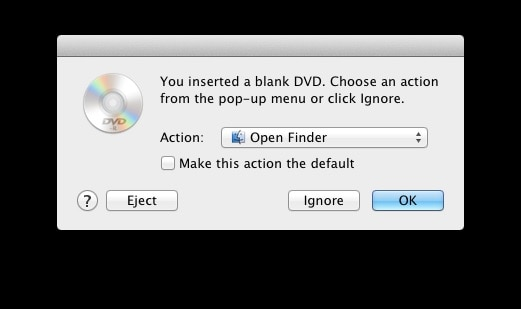 select ignore option on Mac