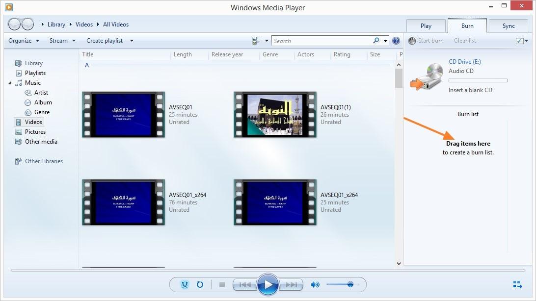 WAV auf CD brennen mit Windows Media Player -  Schritt 2