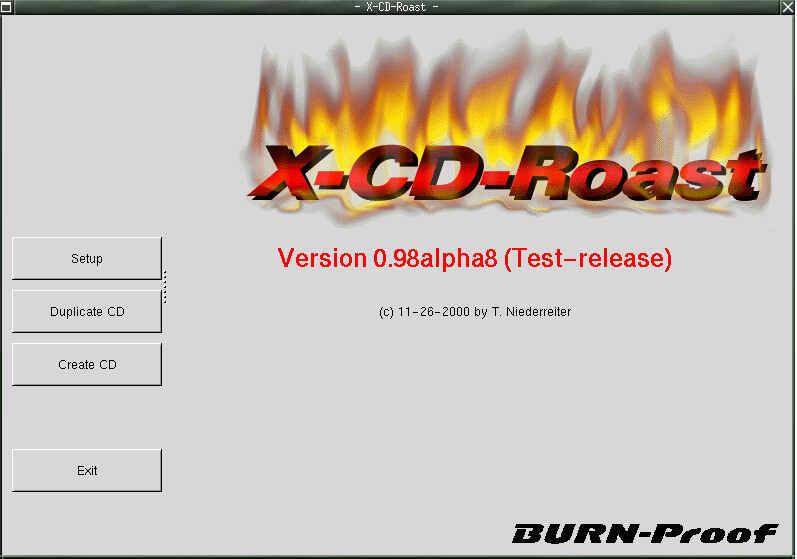 linux cd burner with X-CD-Roast