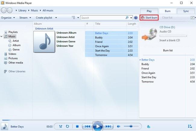 music burning software