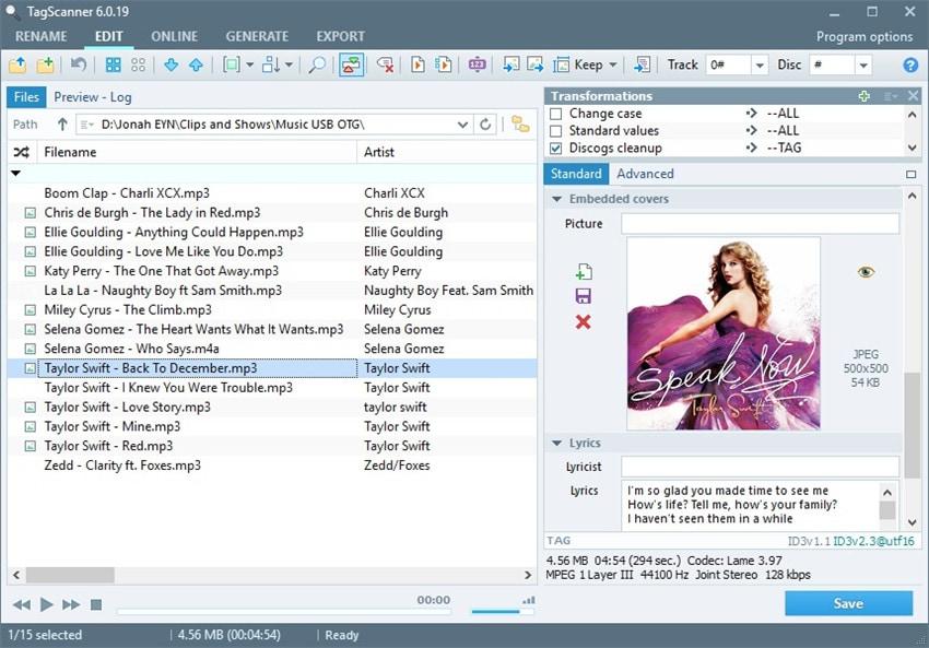 music info editor