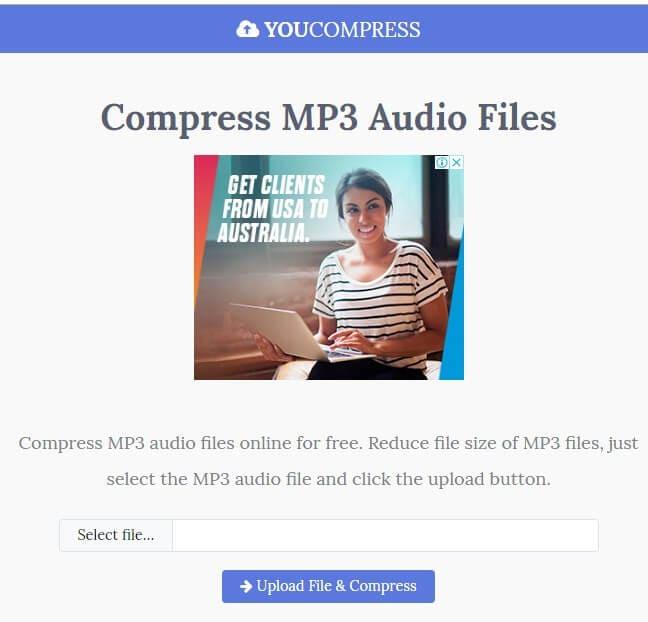 online audio compressor - YouCompress
