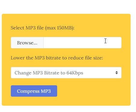 online audio compressor - Compress MP3 Online