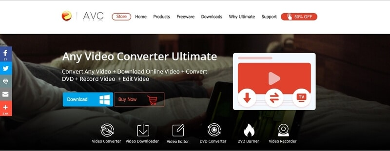 Any Video Converter video compressor