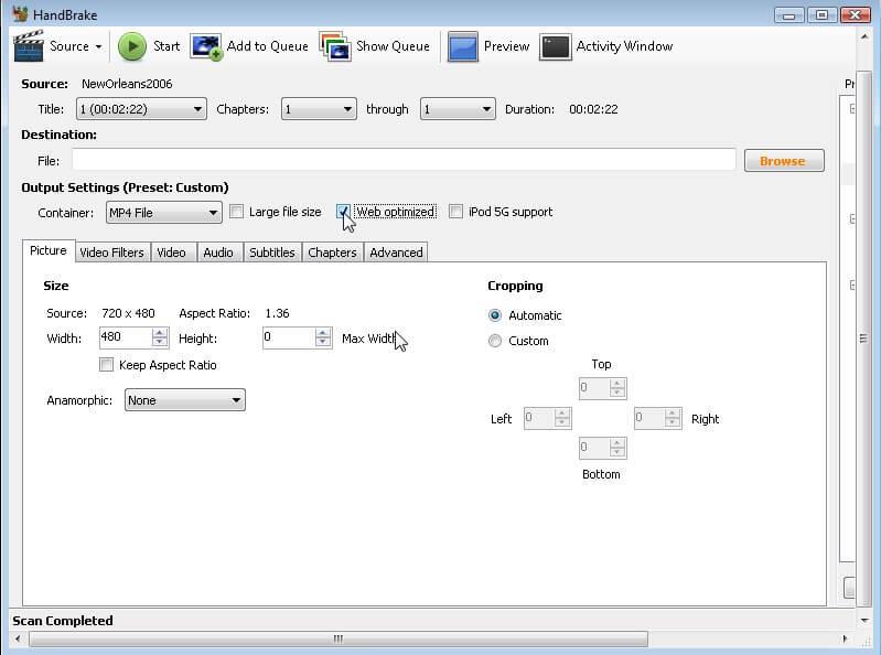 compress MKV files with HandBrake