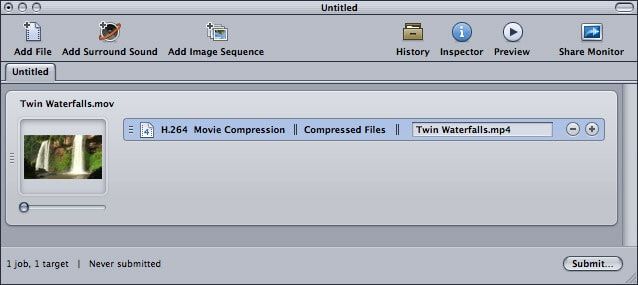 compress video with Apple Compressor 4 - 5