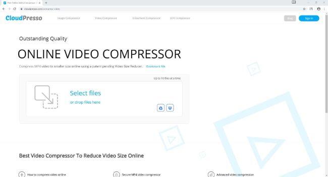 redutor de qualidade de vídeo