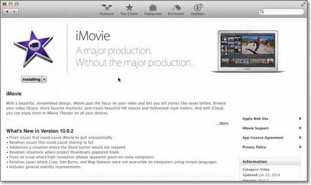 how to compress video by imovie