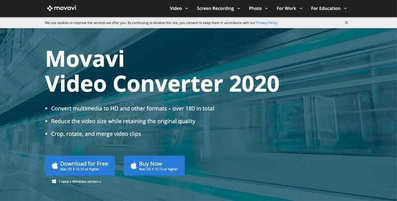Movavi Video Converter compresses YouTube videos