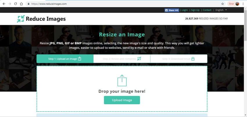 online image size reducer - reduce image