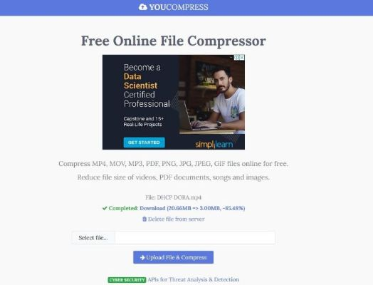 youcompress online video compressor