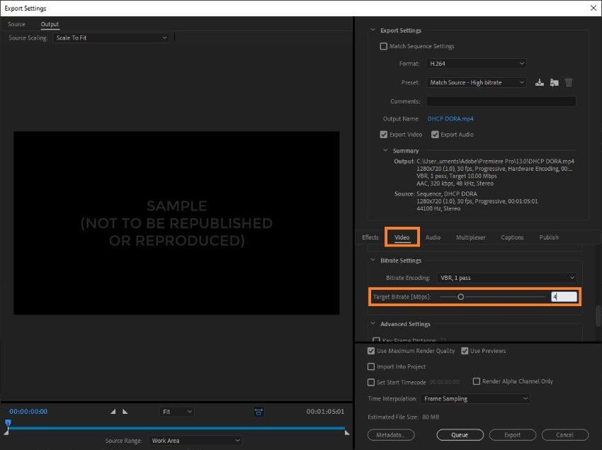 premiere pro compress video