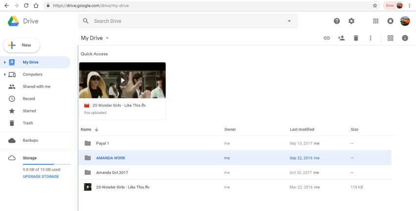 send large files online - Google Drive