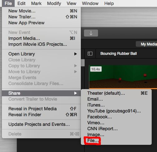 make file size smaller with iMovie
