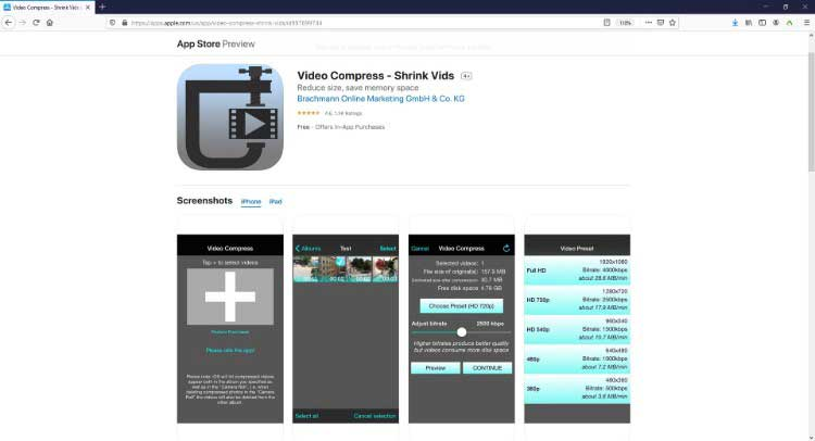 video compress – shrink vids