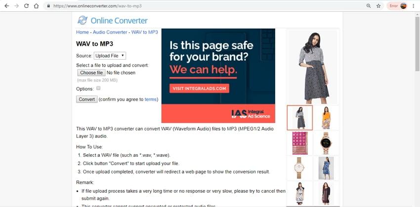 wav compressor online - Online Converter