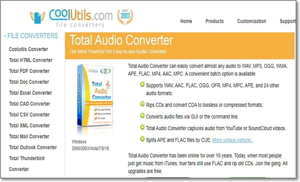 convert AC3 to WAV online by CoolUtils