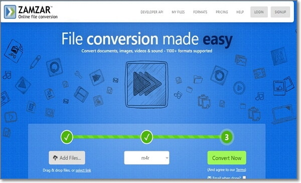convert Audio File to WAV online by Zamzar