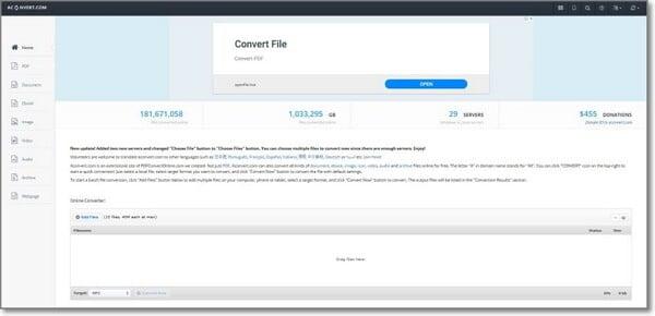 convert WebM to MP3 by ACONVERT