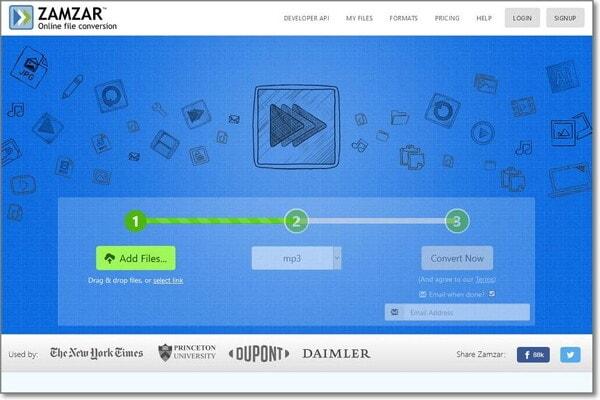 convert WebM to MP3 by ZAMZAR