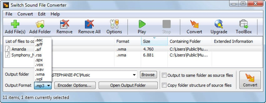 free flac converters Mac - Switch Audio file converter