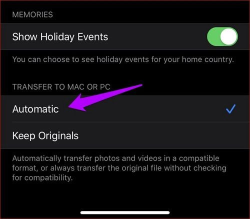 Tap Automatic Transfer