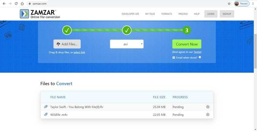 Free VLC Alternative to Convert Multiple Files-Zamzar