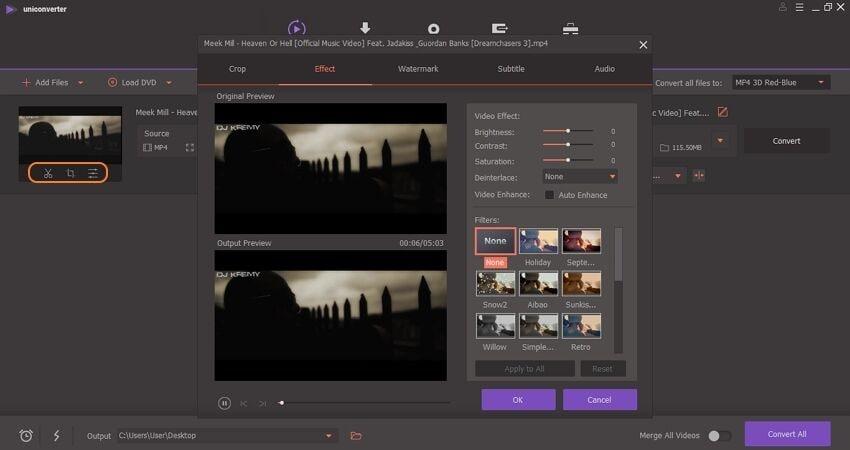 edit video by wondershare uniconverter