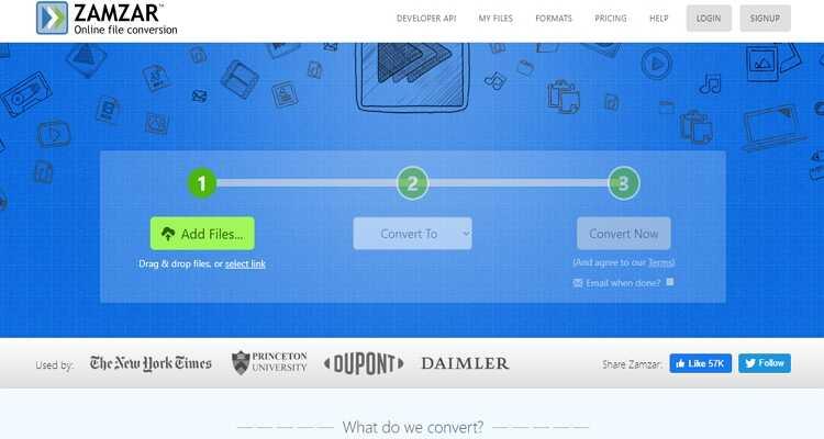 Online CloudConvert Alternatives - Zamzar