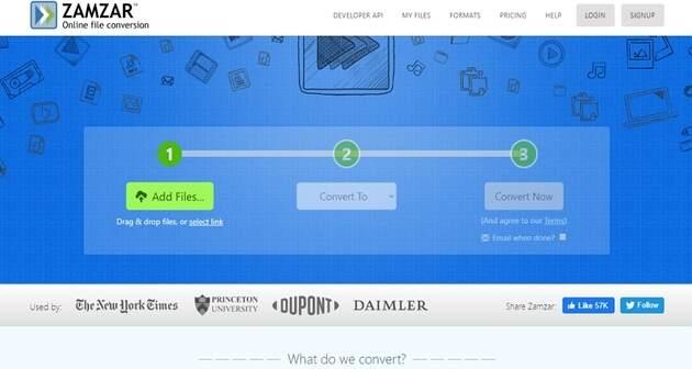AAC Format Online Converters -Zamzar