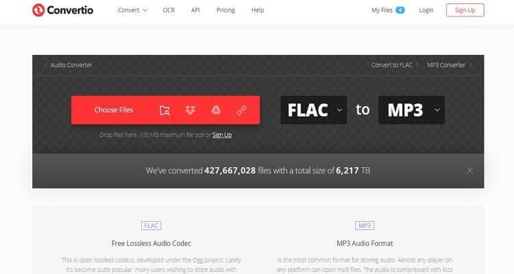 FLAC Online Video Converter -Convertio