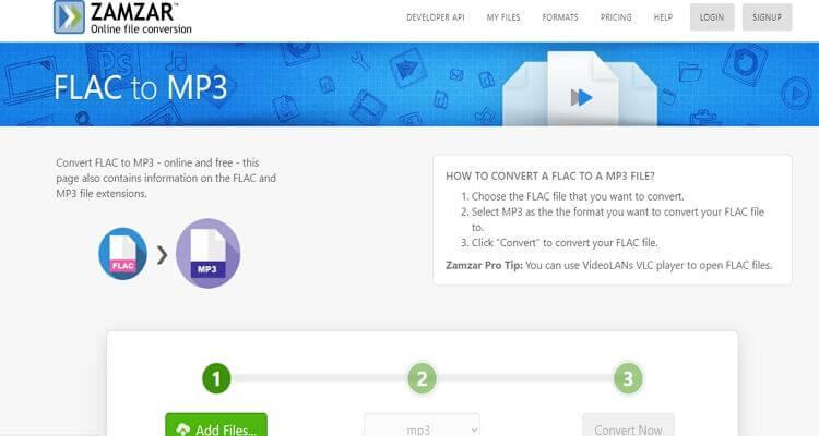 FLAC Online Video Converter -Zamzar