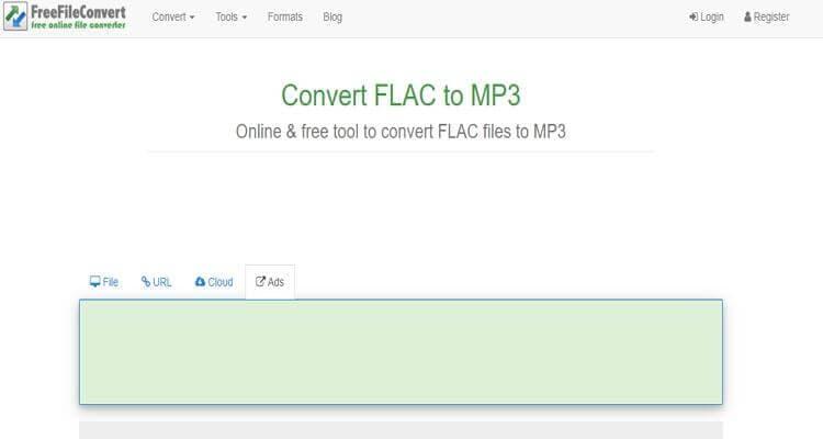 FLAC Online Video Converter -FreeFileConvert