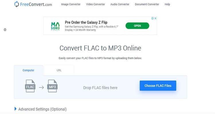 FLAC Online Video Converter -FreeConvert