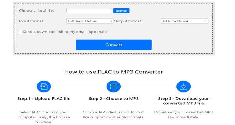 FLAC Online Video Converter -ConvertFiles