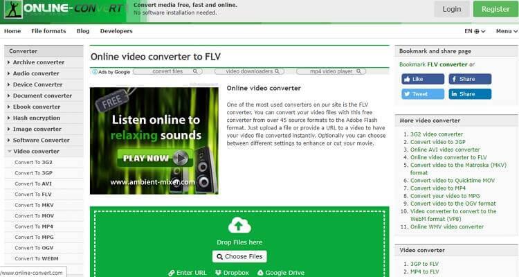 convert FLV file online-Online-Convert