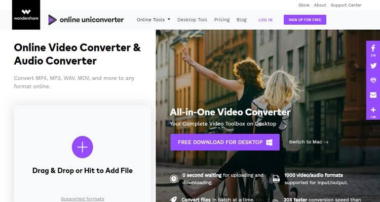 AVI and MP4 Free Converter - Online UniConverter