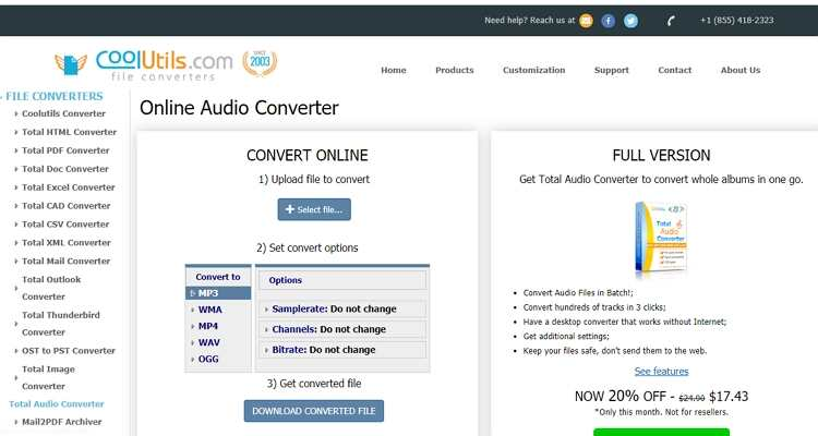 Convert MPEG and MP4 Free Online -Coolutils