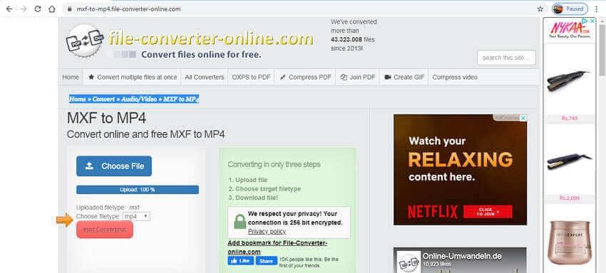Online MXF Converters - File Converter Online