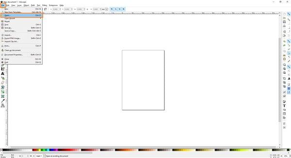 Öffnen Sie das Bild in Inkscape