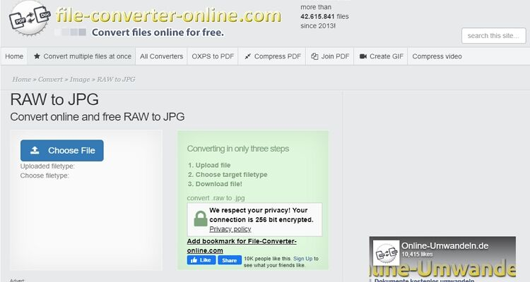 Convert Raw to JPEG Online-File-converter-online.com