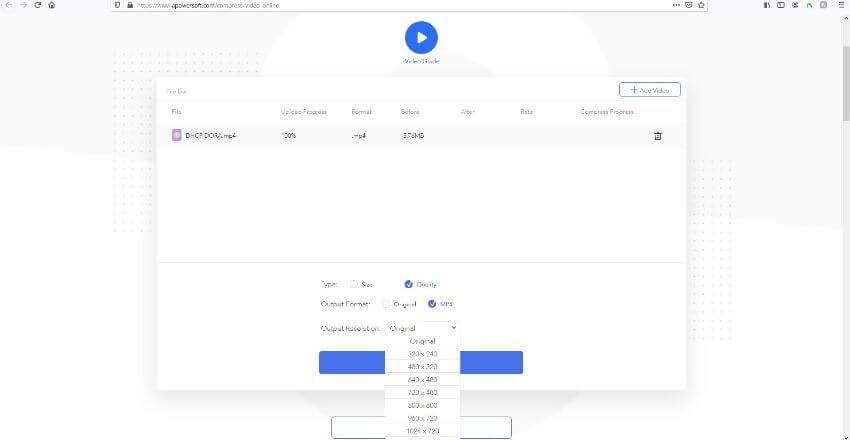 apowersoft online video compressor