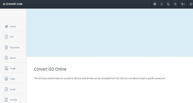 Online ISO Extractor-AConvert