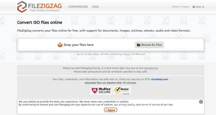 Online ISO Extractor-FileZigZag