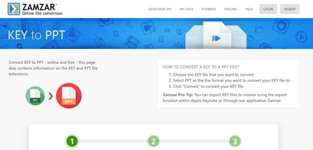 popular online Key converter -Zamzar