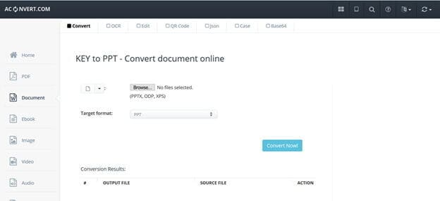 popular online Key converter -Aconvert