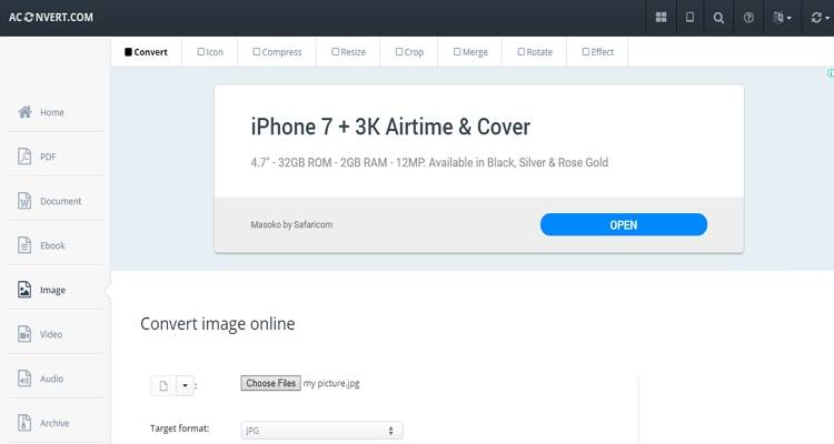 online free picture converter-AConvert