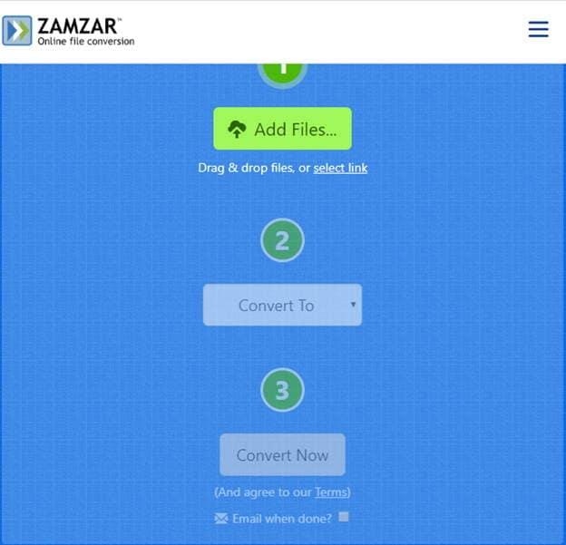 convert file online free-Zamzar