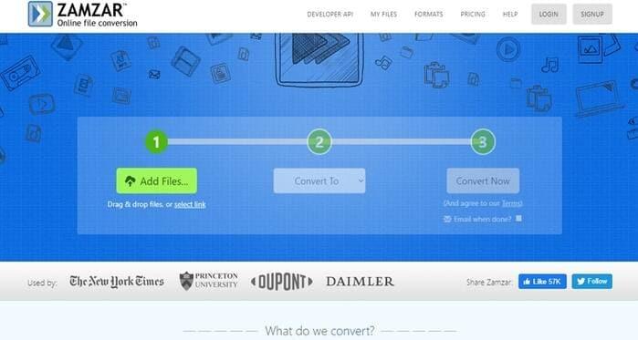Free Online Convert Com -Zamzar