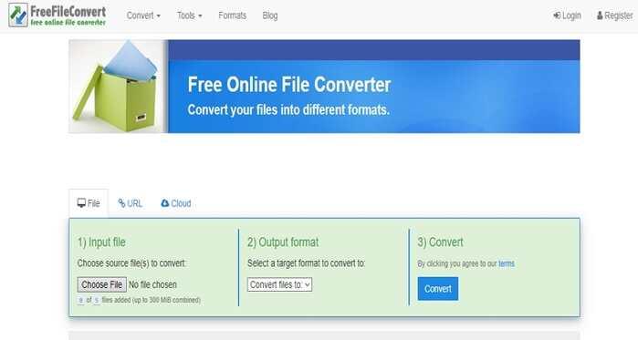 Free File Type Converter - FreeFileConvert